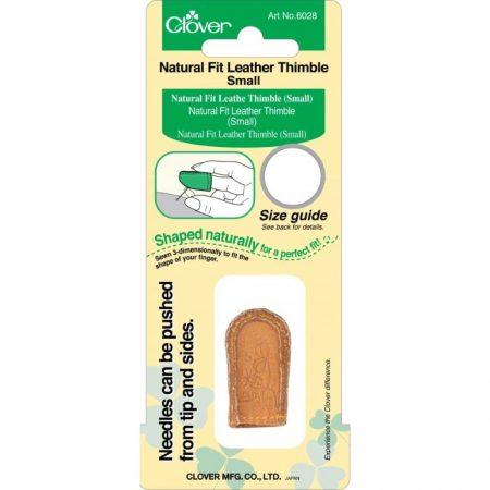 Clover 6028 Vingerhoed leer Small. Sterke, flexibele en ideale vingerhoed