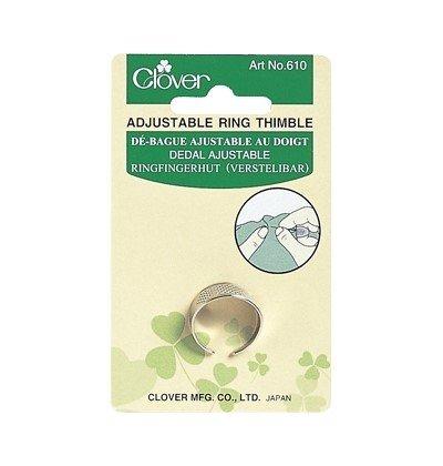 Clover 610 Vingerhoed ring verstelbaar. Materiaal: Metaal. Messing.