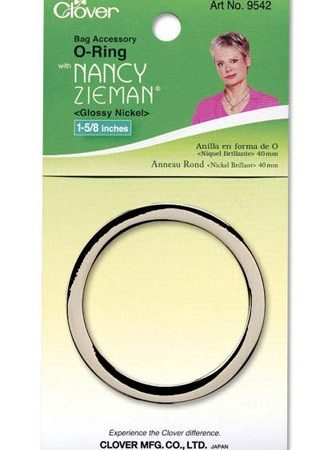 Clover 9542 Tassenring O-vormig 40 mm Glossy Nickel