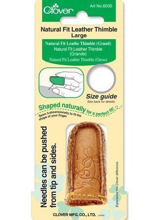 Clover 6030 Vingerhoed leer Large. Sterke, flexibele en ideale vingerhoed