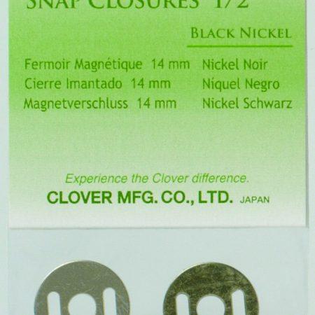 Clover 6241 Magneetsluiting 14 mm Black Nickel Zwart Nikkel