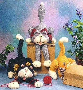 Naaipatroon Cotton Ginnys crazy cats gekke katten