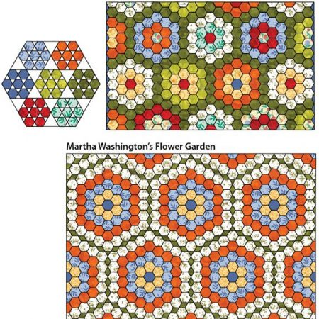 Template set. Marti Michell. One-derful One-Patch Grandmother's Garden