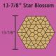 Paper Pieces Paper piecing mallen Star Blossom hexagon 13 7/8 inch