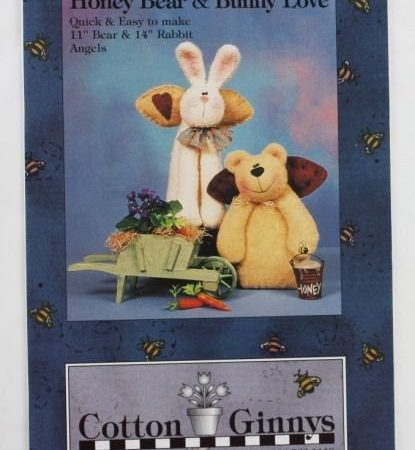 Naaipatroon Cotton Ginnys Honey Bear & Bunny Love Beer en Konijn