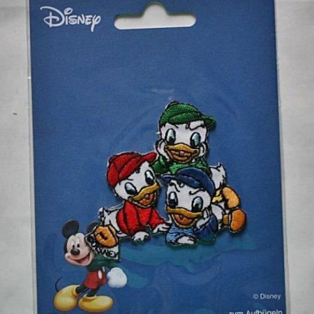Strijkapplicatie. De neefjes van Donald Duck. Kwik, Kwek en Kwak.