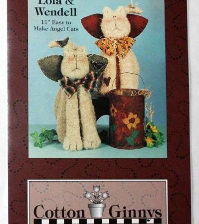 Naaipatroon Cotton Ginnys Lola en Wendell katten engelen