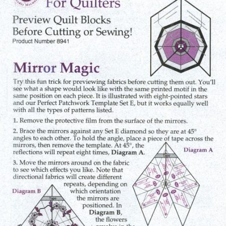Template van het merk Marti Michell. Template Magic Mirror 8941