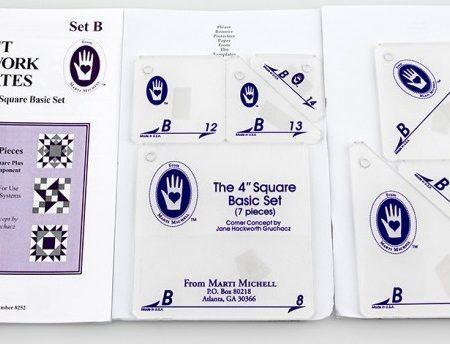 Template set Marti Michell. Template set B Square Basic 8252