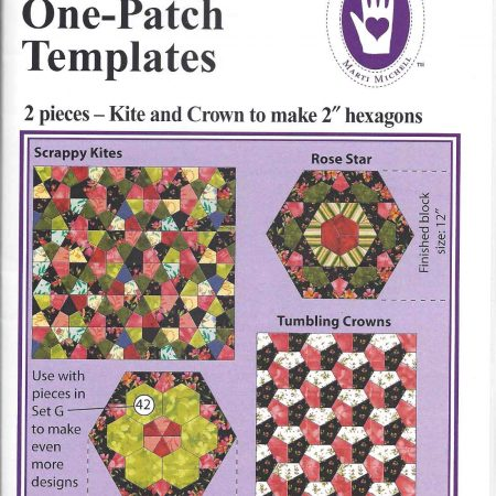 Templates van Marti Michell. One-derful One-Patch Kite and Crown 8287