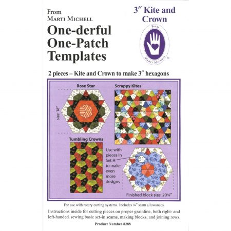 Marti Michell. One-derful One-Patch Templates Kite and Crown 8288