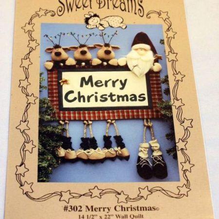 Naaipatroon. Sweat Dreams Patterns. Merry Christmas. Zalig Kerstfeest