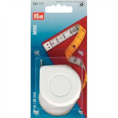 Prym 282717 Rolcentimeterband mini. Centimeter- en inches aanduiding