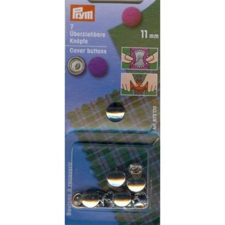 Prym 323150 Stofknopen 11 mm. Inhoud: 7 stuks.Diameter: 11 mm.