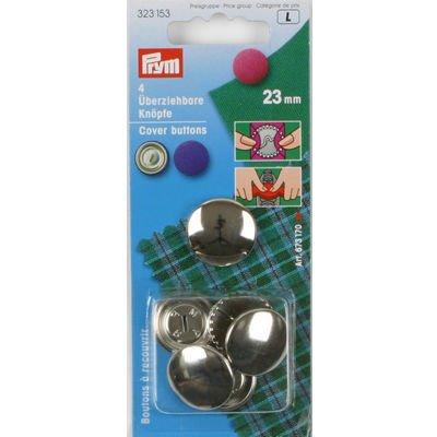 Prym 323153 Stofknopen 23 mm. Inhoud: 4 stuks. Diameter: 23 mm