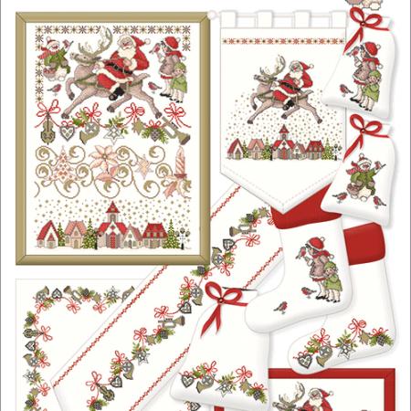 Lindner Borduurpatroon 060 Weinachtszauber Kerst Magie