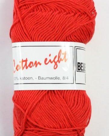 Cotton Eight Haakgaren Haakkatoen Rood. 100% katoen