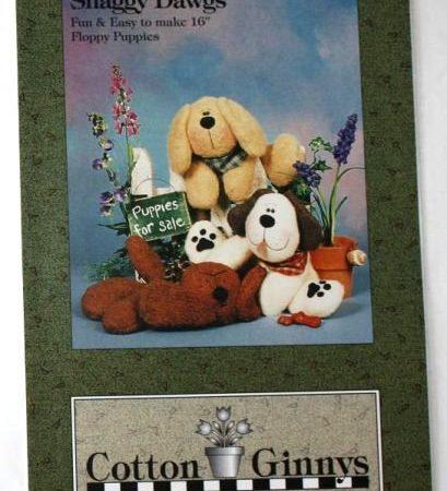 Naaipatroon Cotton Ginnys harige hond