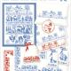Borduurpatroon van het merk Lindner. Onderwerp: Sihouetten 065