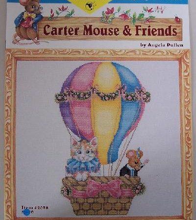 Just CrossStitch Borduurpatroon Carter Mouse Springtime Friends Carter Muis Lentevrienden 2078