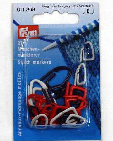 Prym 611868 Stekenmarkeerringen. Inhoud van de verpakking is 21 stuks