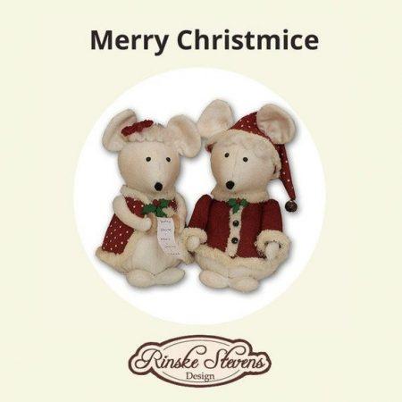 Stoffenpakket. Rinske Stevens. Compleet. Incl. stofjes. Merry Kerstmuizen