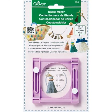 Clover 9940 Tassel maker Kwastenmaker Small. Een kwastenmaker