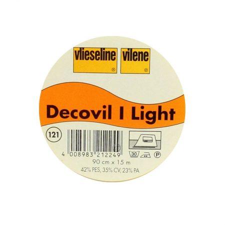 Vlieseline Decovil 1 light. Breedte: 90 cm. Kleur: Wit