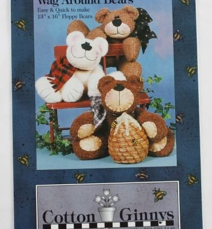 Naaipatroon Cotton Ginnys Wag Around Bears Beren