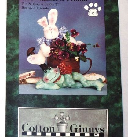 Naaipatroon Cotton Ginnys Wee Wabbit en Fribbit Konijn en Kikker