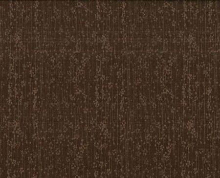 Quiltstof katoen Edo bloem bruin Willow. Verkoop per 25 cm