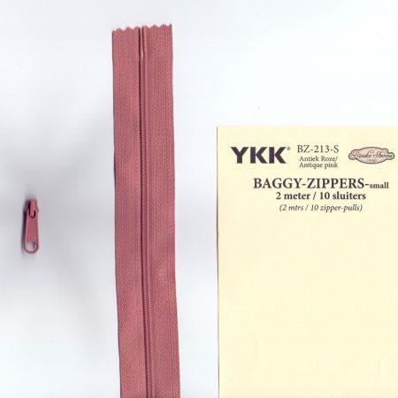 YKK Rits Lengte 2 meter incl. 10 sluiters Antiek Roze 213