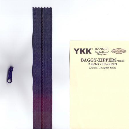 YKK Rits Lengte 2 meter incl. 10 sluiters Donkerblauw 960