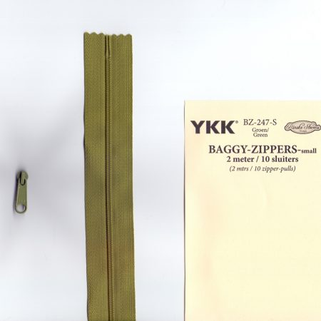 YKK Rits Lengte 2 meter incl. 10 sluiters Groen 247