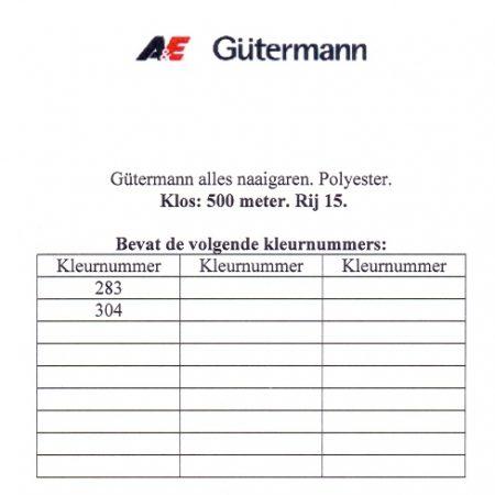 Gütermann naaigaren 500 meter. Rij 15. Naaigaren van hoge kwaliteit