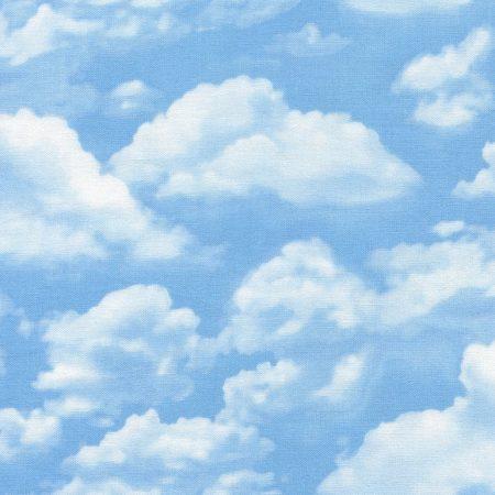 Quiltstof katoen Landschap Heldere wolkenlucht C2188