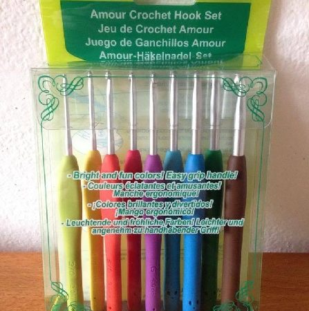 Clover 3674 Amour Crochet haaknaalden set. Dikte: 2.0 t/m 6.0
