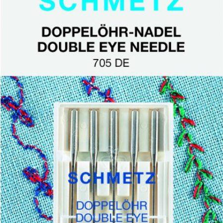 Schmetz Naaimachinenaalden Dubbel oog 705 DE 80/12