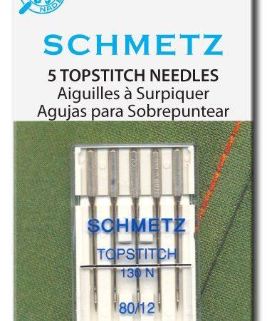 Schmetz Naaimachinenaalden Topstitch 130 N 80/12. Voor dikkere garens