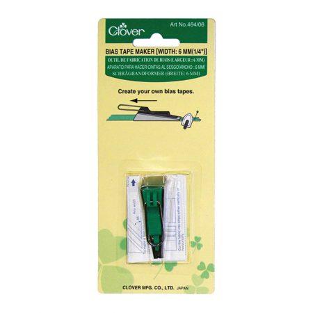 Clover 464/06 Biaisbandmaker 6 mm. Kleur: Groen
