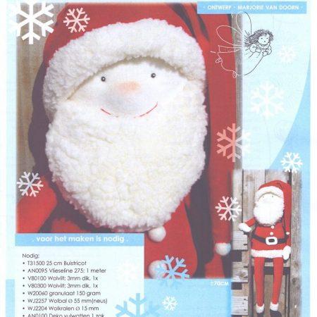 Patronenblad Kerstman. Een prachtige kerstman. 70 cm groot