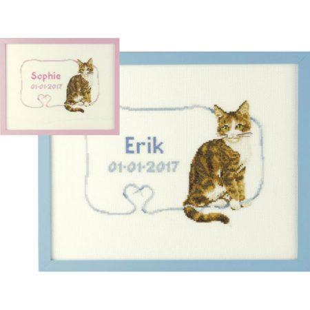 Pako Borduurpakket Aida Geboortetegel Franciens katten 273031