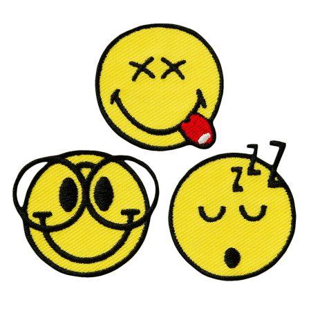 Smiley strijkapplicaties