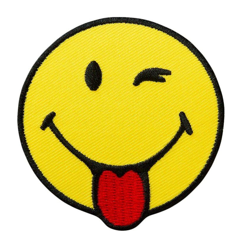 Tong Dies: Strijkapplicatie Smiley Knipoog 14533