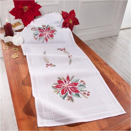 Deco-line kerst tafelloper voorbedrukt katoen 20-060.