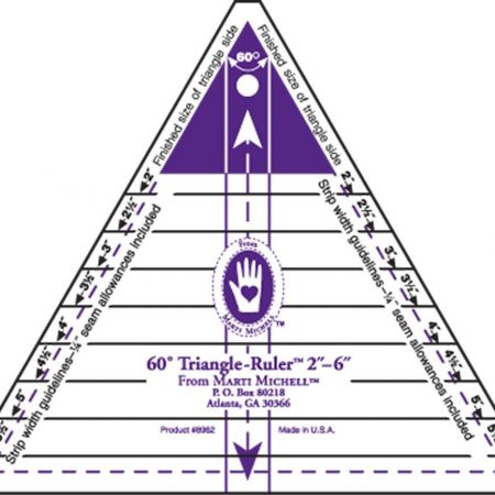 Marti Michell 8962 Triangle Ruler Liniaal. Driehoeken snijden 2 t/m 6 inch