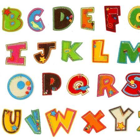 Alfabet Fun Strijkapplicaties
