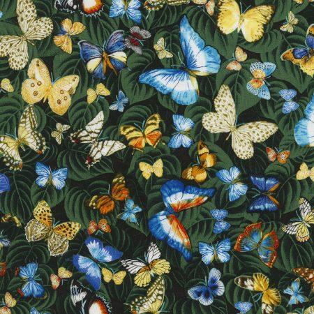 Quiltstof katoen Vlinders 5652. Breedte stof: 114 cm. Verkoop per 25 cm