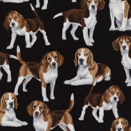 Quiltstof katoen Honden Beagle 4890. Verkoop per 25 cm