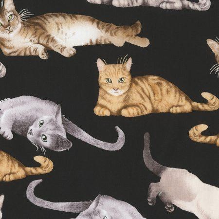 Quiltstof katoen Katten 5751. Breedte stof: 114 cm.Verkoop per 25 cm.
